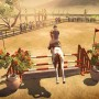 Jumping horse in riding club championship game